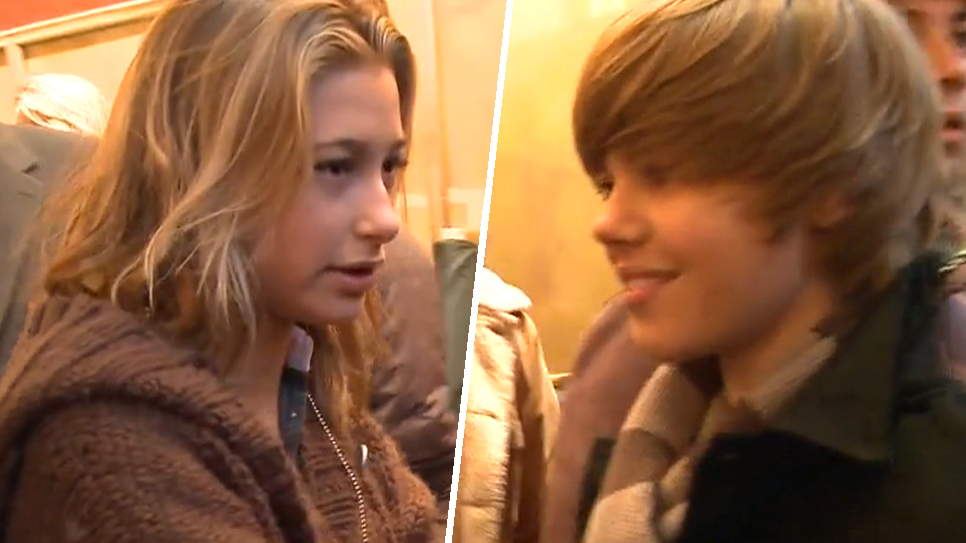 Hailey Baldwin and justing bieber 2009 pic