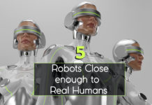 5 Robots Close enough to Real Humans