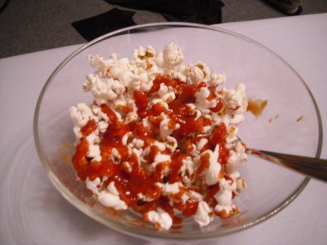 Popcorn with Ketchup