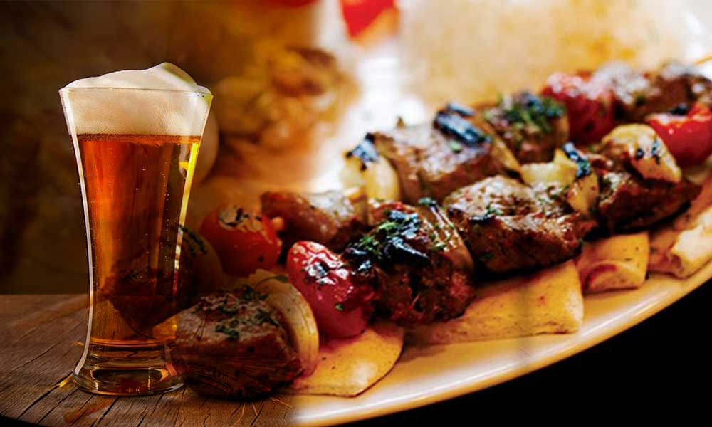 Beer with Kabab
